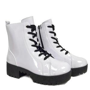 Unilady Lug Sole Combat Boots